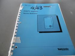 MANUAL : TEKTRONIX – 11A71 AMPLIFIER SERVICE REFERENCE
