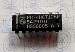 PC74HCT126P Quad buffer/line driver; 3-state 14-PIN