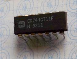 CD74HCT11E High Speed CMOS Logic Triple 3-Input AND Gate 14-PIN
