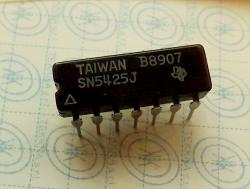 SN5425J DUAL 4-INPUT NOR GATES WITH STROBE 14-PIN