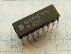 CD54HC257F High-Speed CMOS Logic Quad 2-Input Multiplexer with Three-State 16-PIN