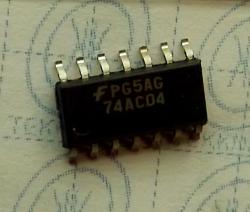 74AC04 Hex Inverter SMD 14-PIN