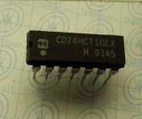 CD74HCT10EX  High-Speed CMOS Logic Triple 3-Input NAND Gate DIP14