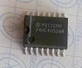 74HC4052WM 16-SO SMD  Dual 4-channel analog multiplexer, demultiplexer